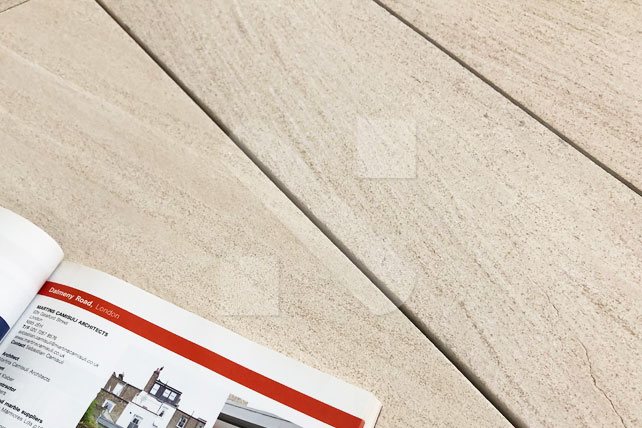 Moca Cream limestone wood strips