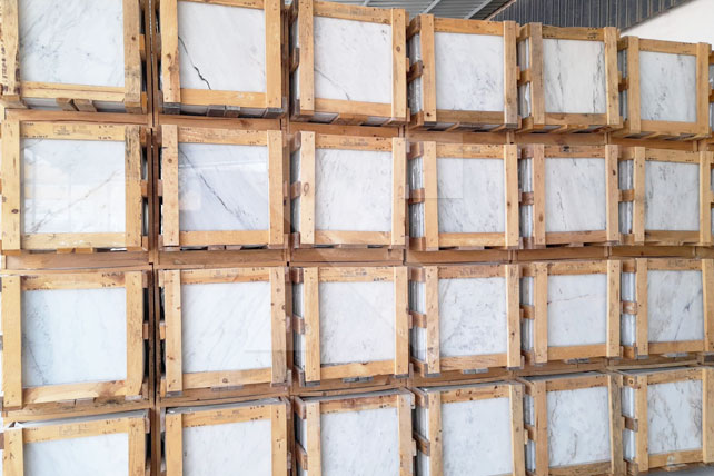 Portuguese white marble tiles deal